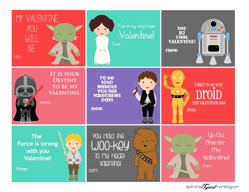 Free Star Wars Valentine Printables