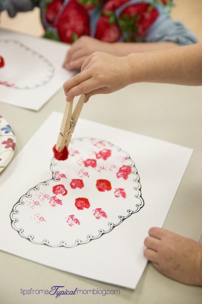 Valentine Pom Pom Painting For Preschoolers