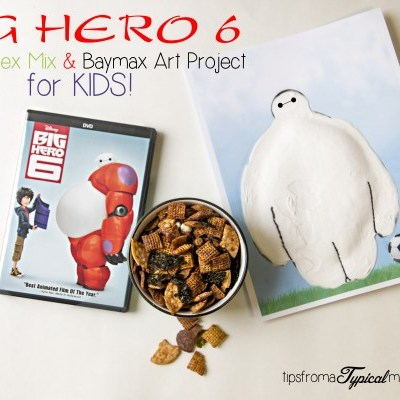 Big Hero 6 Wasabi Chex Mix & Baymax Art Project for Kids