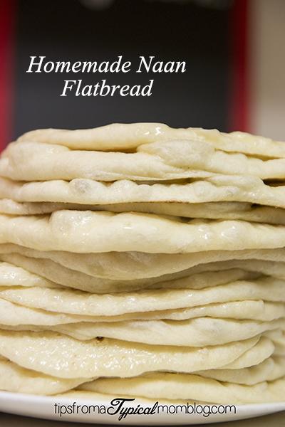 Homemade Naan Flatbread