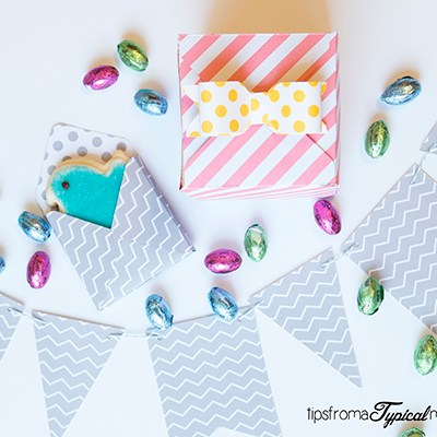 Easter Paper Treat Boxes & Spring Banner~ We R Memory Keepers Punch Boards