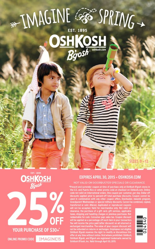 Spring Osh Kosh B'Gosh coupon