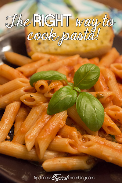 The Right Way to Cook Pasta
