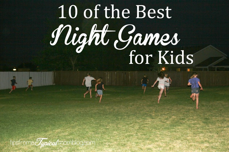 summer outdoor night games for kids and teens