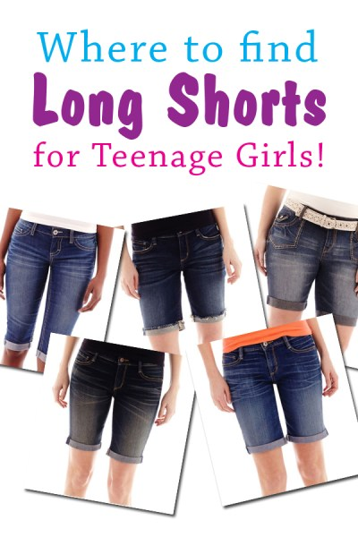 Where to Find Long Shorts for Teenage Girls