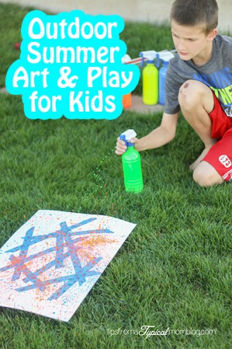 Outdoor Summer Art and Play for Kids