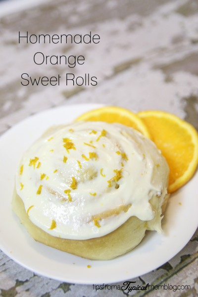 Homemade Orange Sweet Rolls with Cream Cheese Frosting