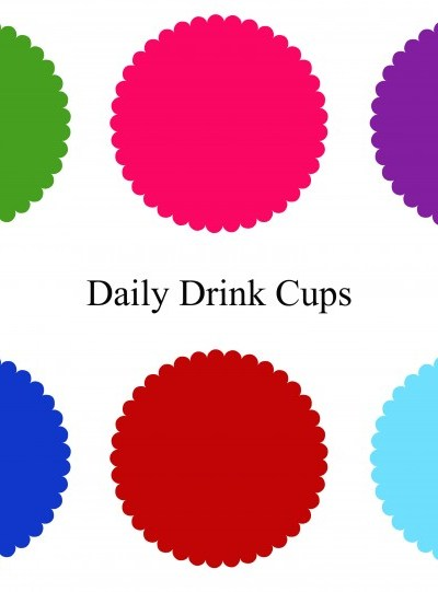 Summer Drink Cup Solution- Drink Cup Place Mat Printable