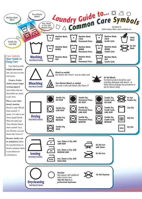laundry instructions for college students