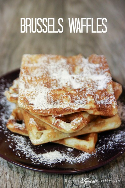 Traditional Brussels Waffles Recipe