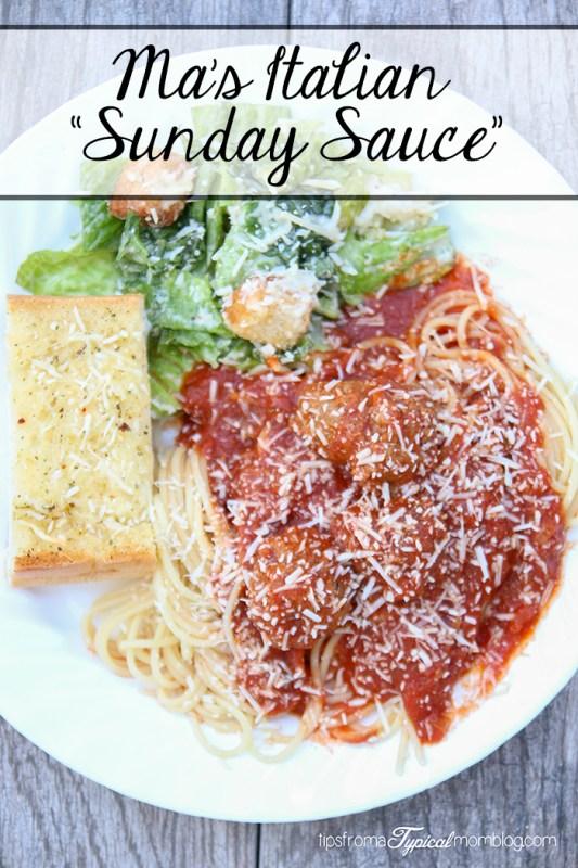 Ma's Italian Sunday Sauce Recipe