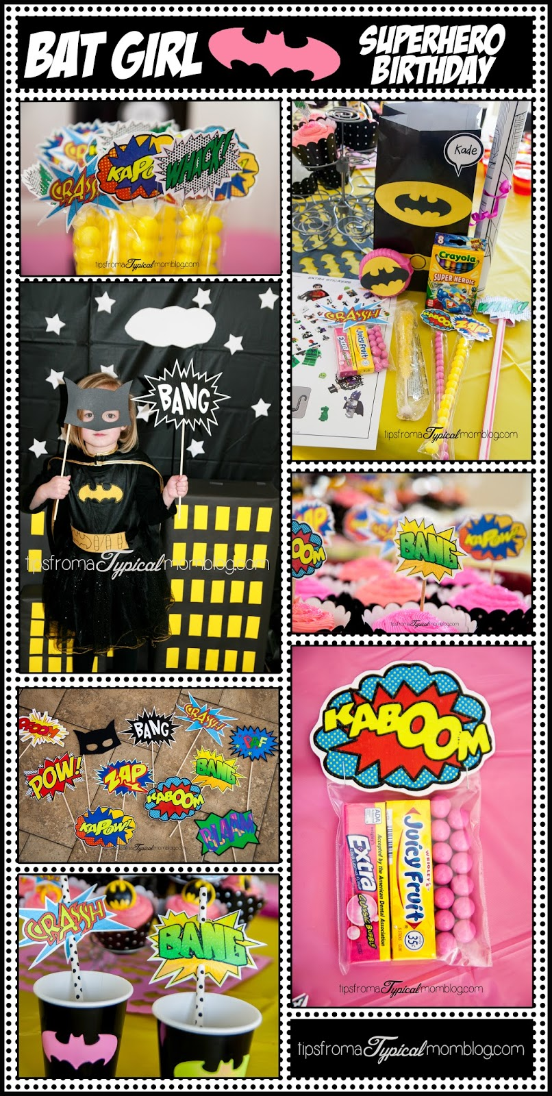 Superhero Birthday Party Ideas For A Girl Who Loves Bat Man Great Free Printables And