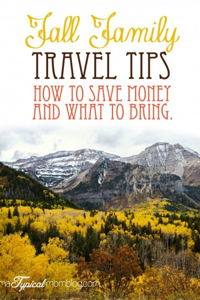 Fall Family Travel Tips~ And what you should pack in your car.