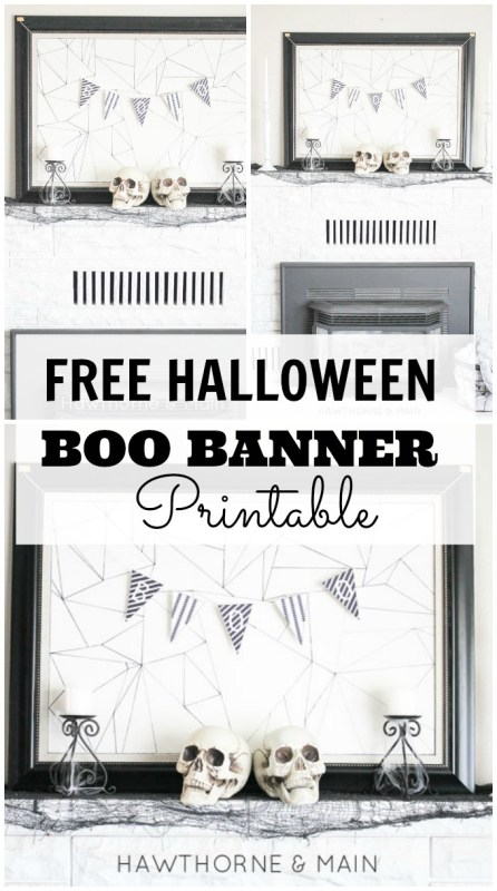 Free Halloween BOO Printable Banner Home Decor~ Oktoberfest!