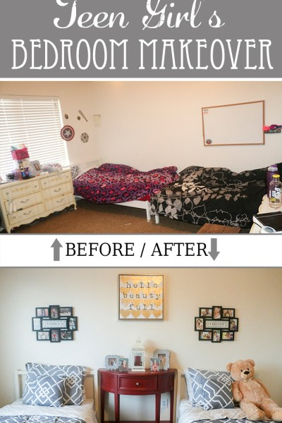Gray & Red Teen Girls Bedroom Makeover Ideas