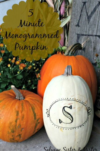 5 Minute Monogrammed Pumpkin~ Oktoberfest Guest Post