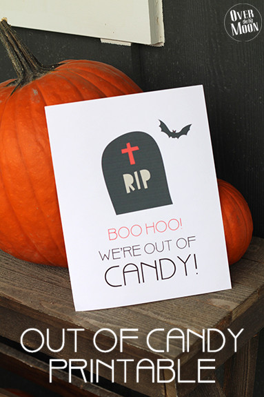 BOO HOO We're Out of Candy~ Oktoberfest Halloween Printable