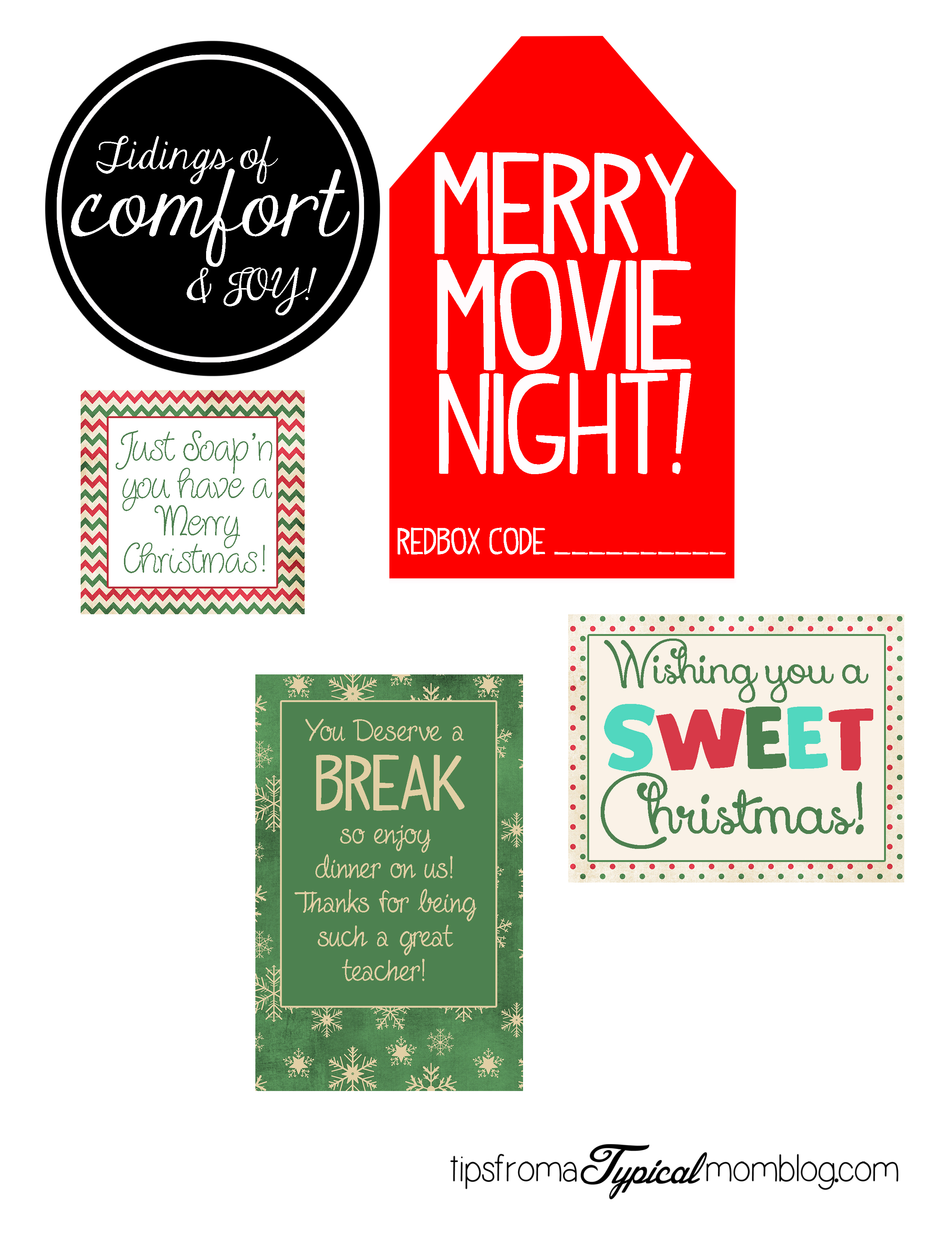 photograph about We Wash You a Merry Christmas Free Printable called 8 Simple and Simple Trainer Xmas Present Designs with Printable