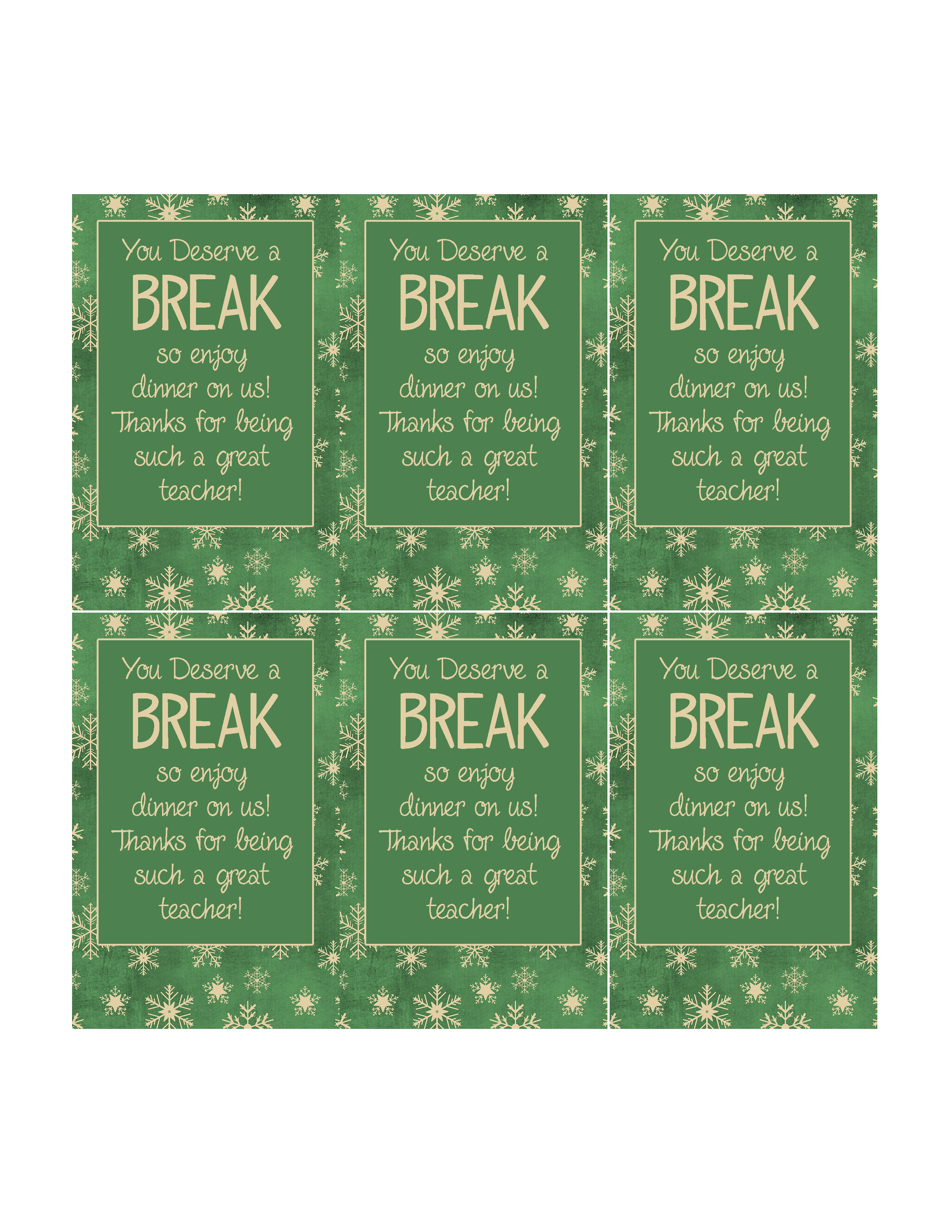8 Quick and Easy Teacher Christmas Gift Ideas with Printable Tags ...