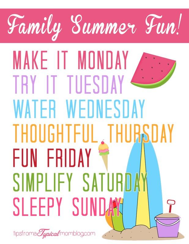 Family Summer Fun Ideas