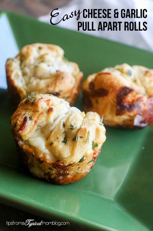 Easy Cheese & Garlic Pull Apart Rolls