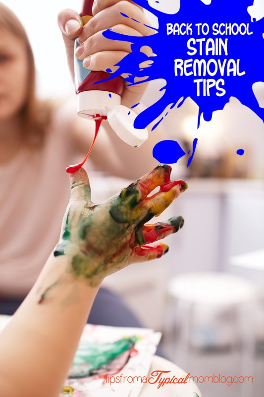 Back to School Stain Removal Tips - Tips from a Typical Mom