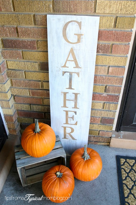 DIY Gather Fall Porch Sign