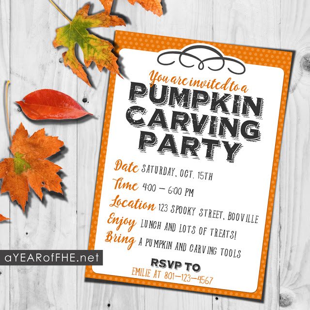 how to host a pumpkin carving party a free printable invitation
