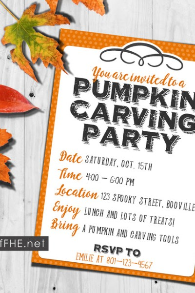 How to Host a Pumpkin Carving Party + a Free Printable Invitation