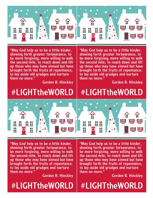 Light the World Forgiveness Handout