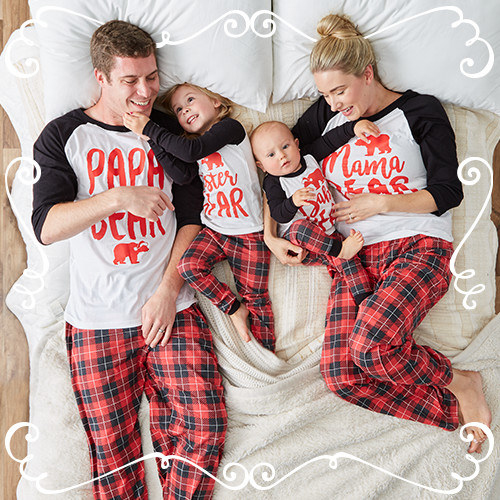 holiday pajamas for the whole family a christmas. Black Bedroom Furniture Sets. Home Design Ideas