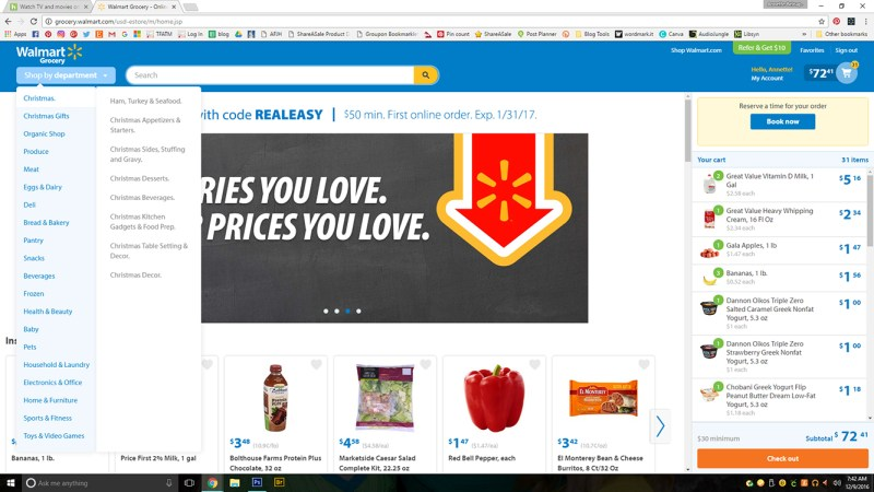 Walmart Curbside Grocery Pick Up