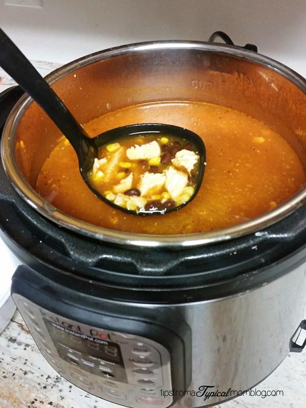 Instant Pot Chicken Enchilada Soup Recipe