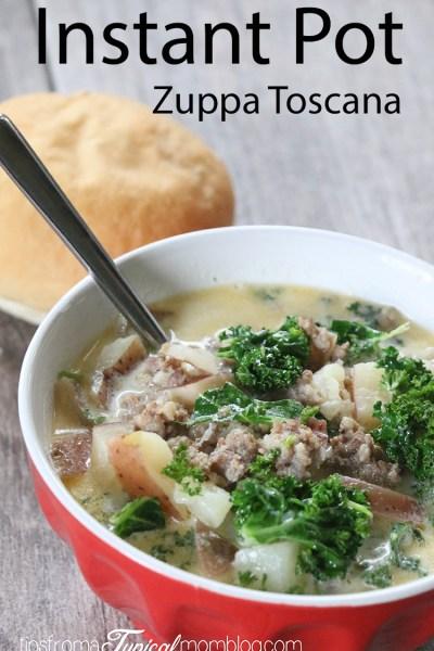 Instant Pot Italian Sausage Potato Soup {aka Zuppa Toscana}