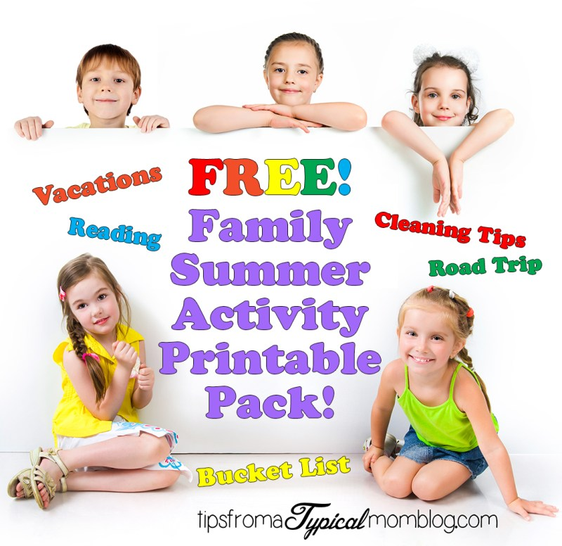 Free Family Summer Activity Printable Pack