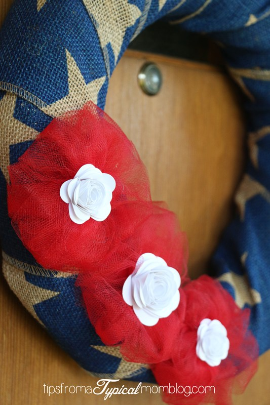 Easy 4th of July Burlap Wreath