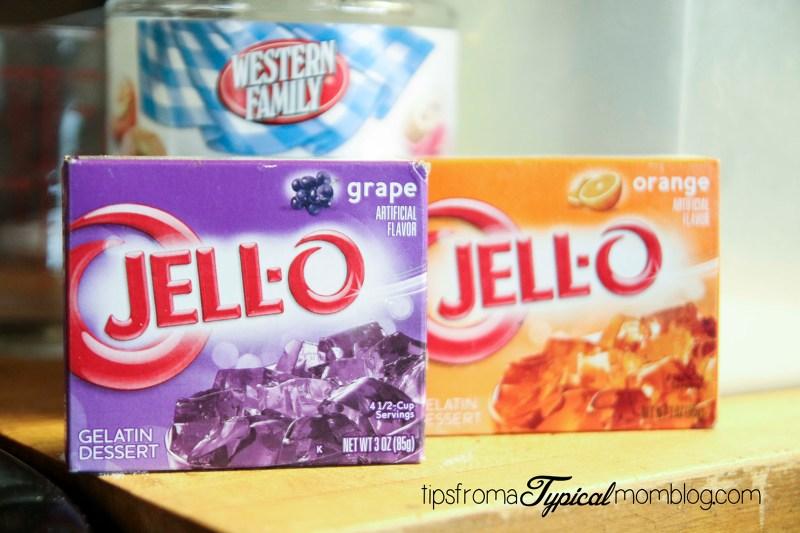 Halloween Jello Popcorn Balls AKA Pumpkin Brains