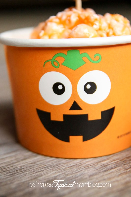 Jello Popcorn Balls AKA Pumpkin