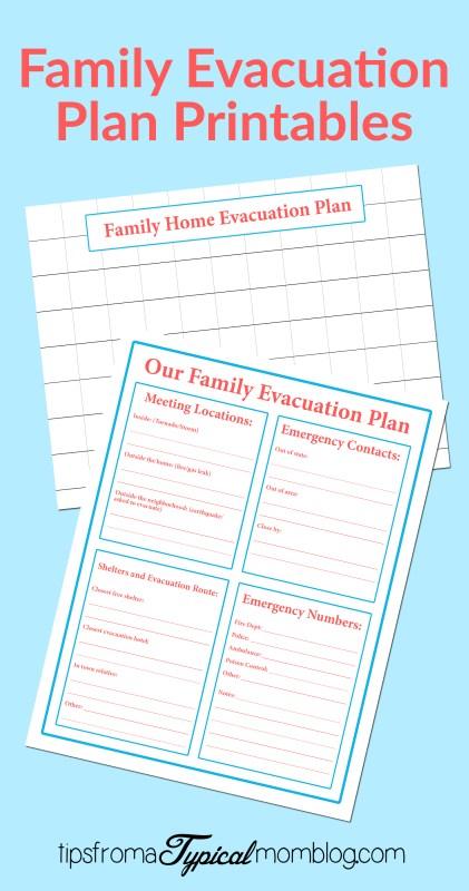 family emergency evacuation printables free preparedness printable