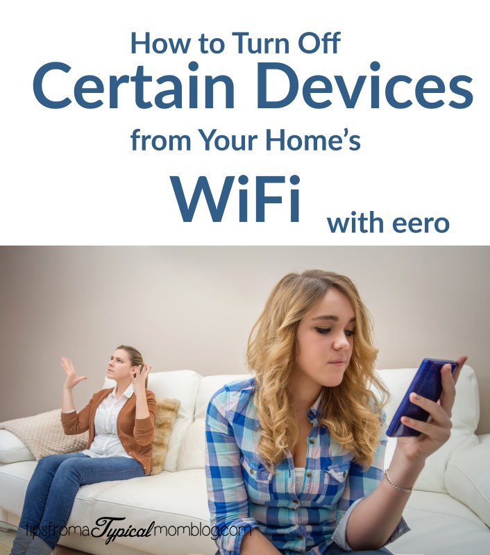 How to turn off certain devices from your homes wifi