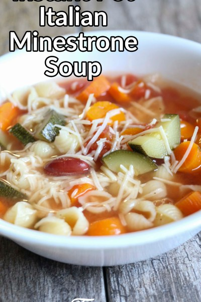Instant Pot Italian Minestrone Soup Recipe