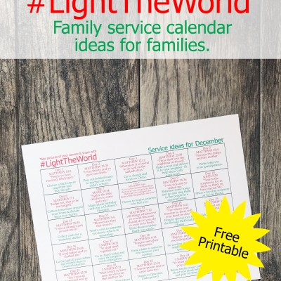 Light The World Service Calendar for Families