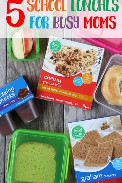 5 School Lunch Ideas for Busy Moms