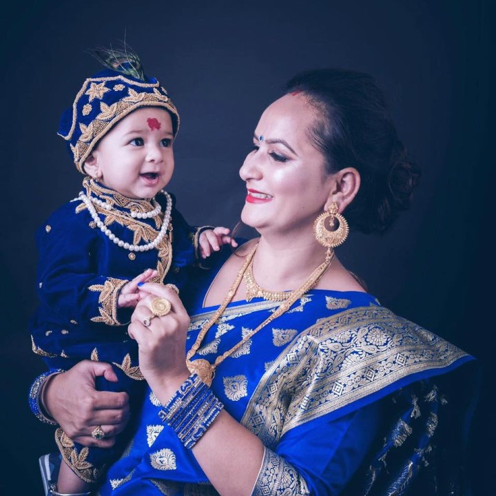 Mother and son pasni dress