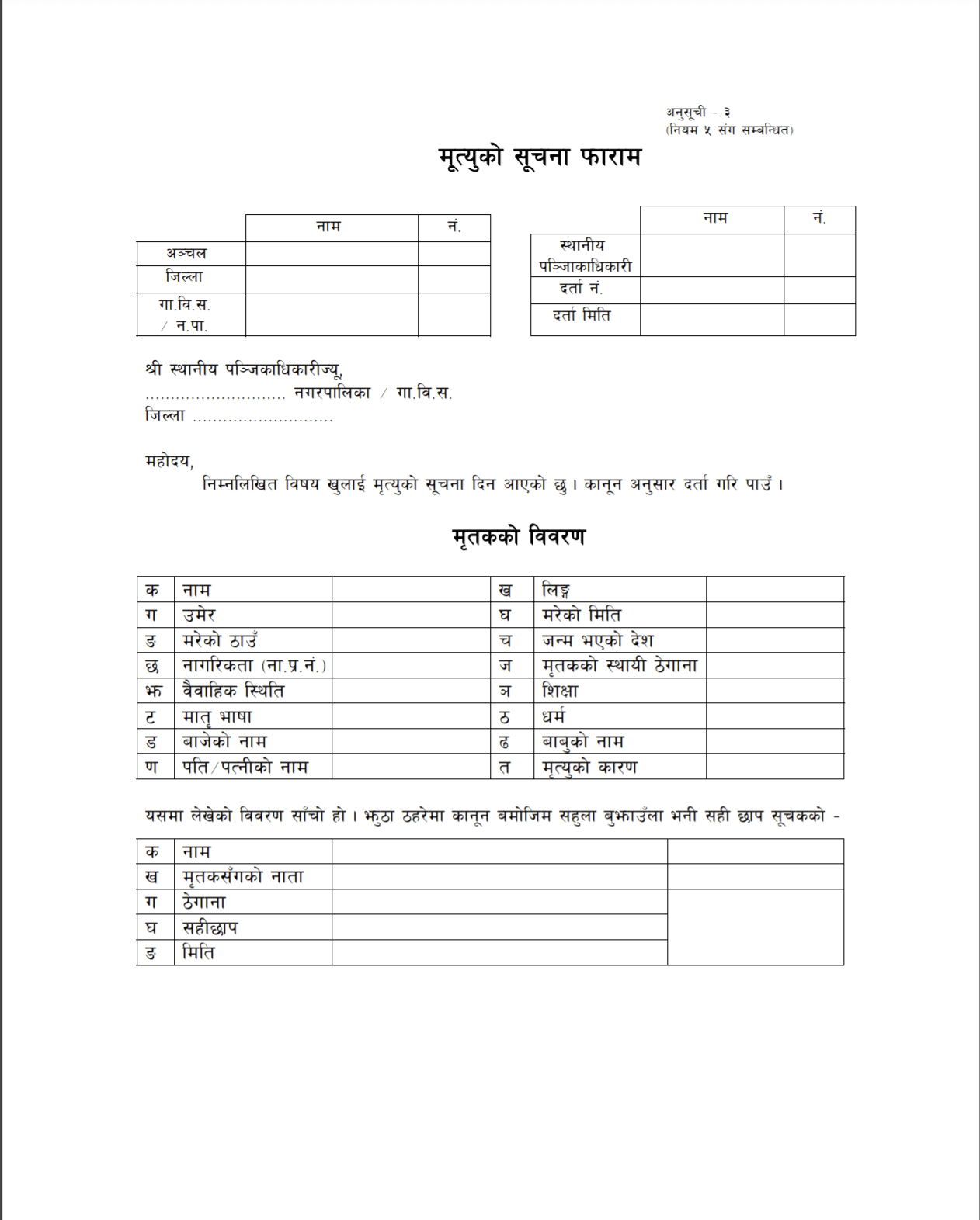4 Simple Steps on How to Make a Death Certificate in Nepal
