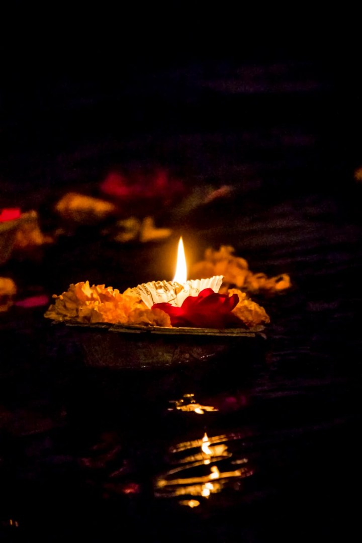 photo of a lighted candle for chaurasi