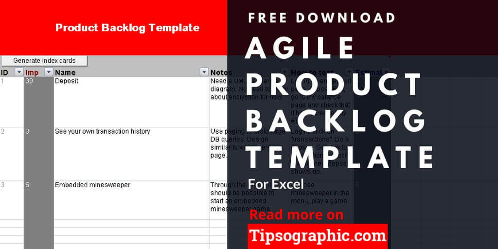 Agile Product Backlog Template For Excel Free Download