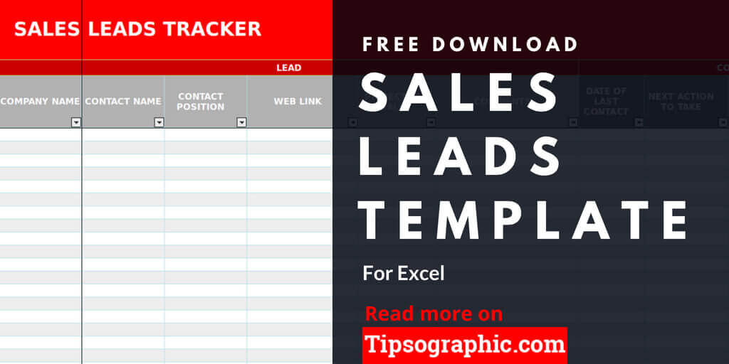 Manage your sales leads in minutes with free excel templates. Sales Lead Template For Excel Free Download Free Download