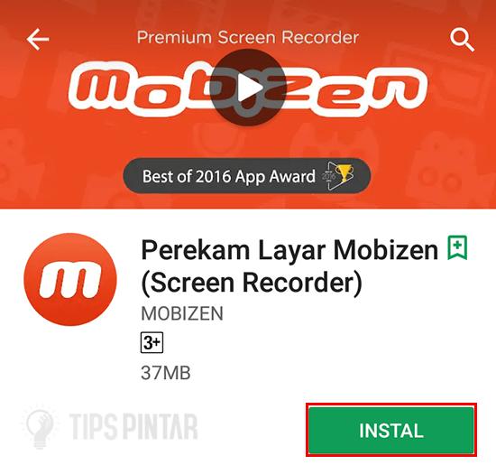 Install Aplikasi Mobizen Screen Recorder