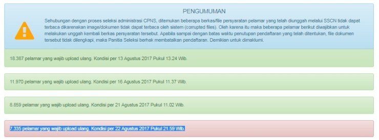 Pengumuman Upload Ulang Dokumen Persyaratan CPNS Kemenkumham 2017